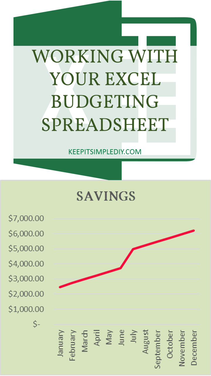 Working with Your Excel Budgeting Spreadsheet - Keep it
