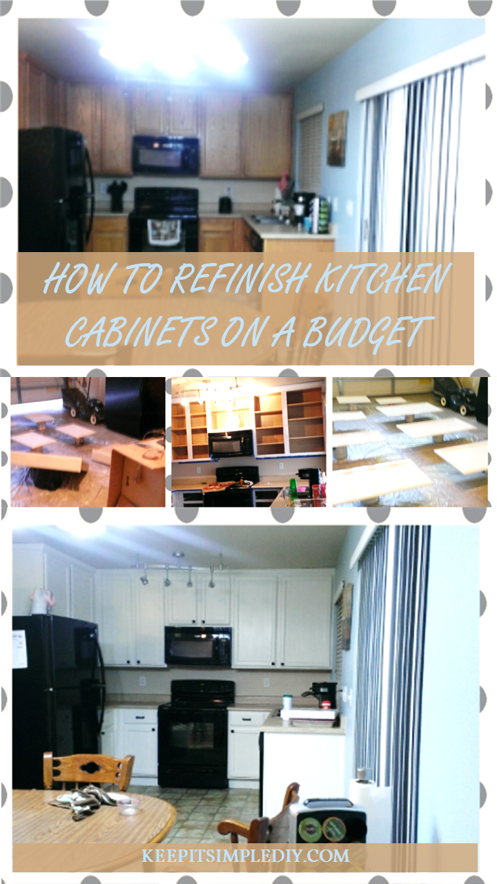 How to refinish kitchen cabinets on a budget keep it for Kitchen cabinets on a budget