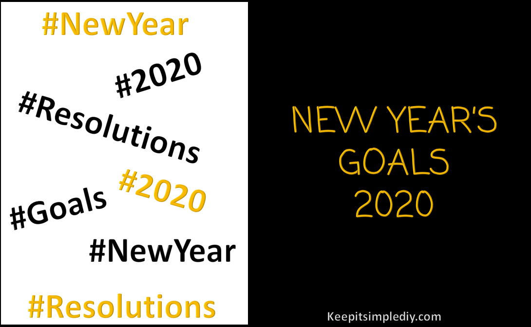 2020 New Year's Goals